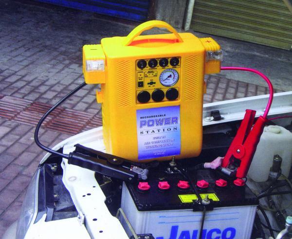 PowerPack mit Starthilfe und integriertem Kompressor 12V/17Ah