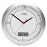 Funk-Wanduhr mit digitale LCD-Anzeige mit Datum und Temperatur