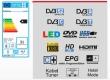 Reflexion LDD2290 mit DVB-S2 / DVB-T2 und DVD Player für 12/230V